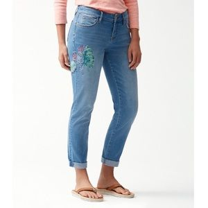 Tommy bahama slim boyfriend cropped jeans